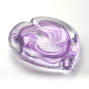 Crystal Heart Paperweight Incorporating Ashes
