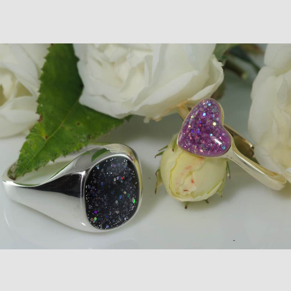 Crystallure Signet Ring & Heart Ring