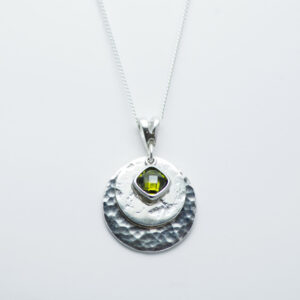 Ashes Imprinted Birthstone Pendant