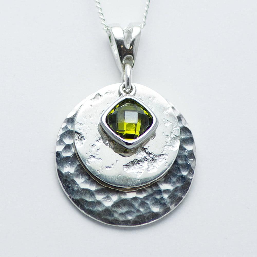 Ashes Imprinted Birthstone Pendant