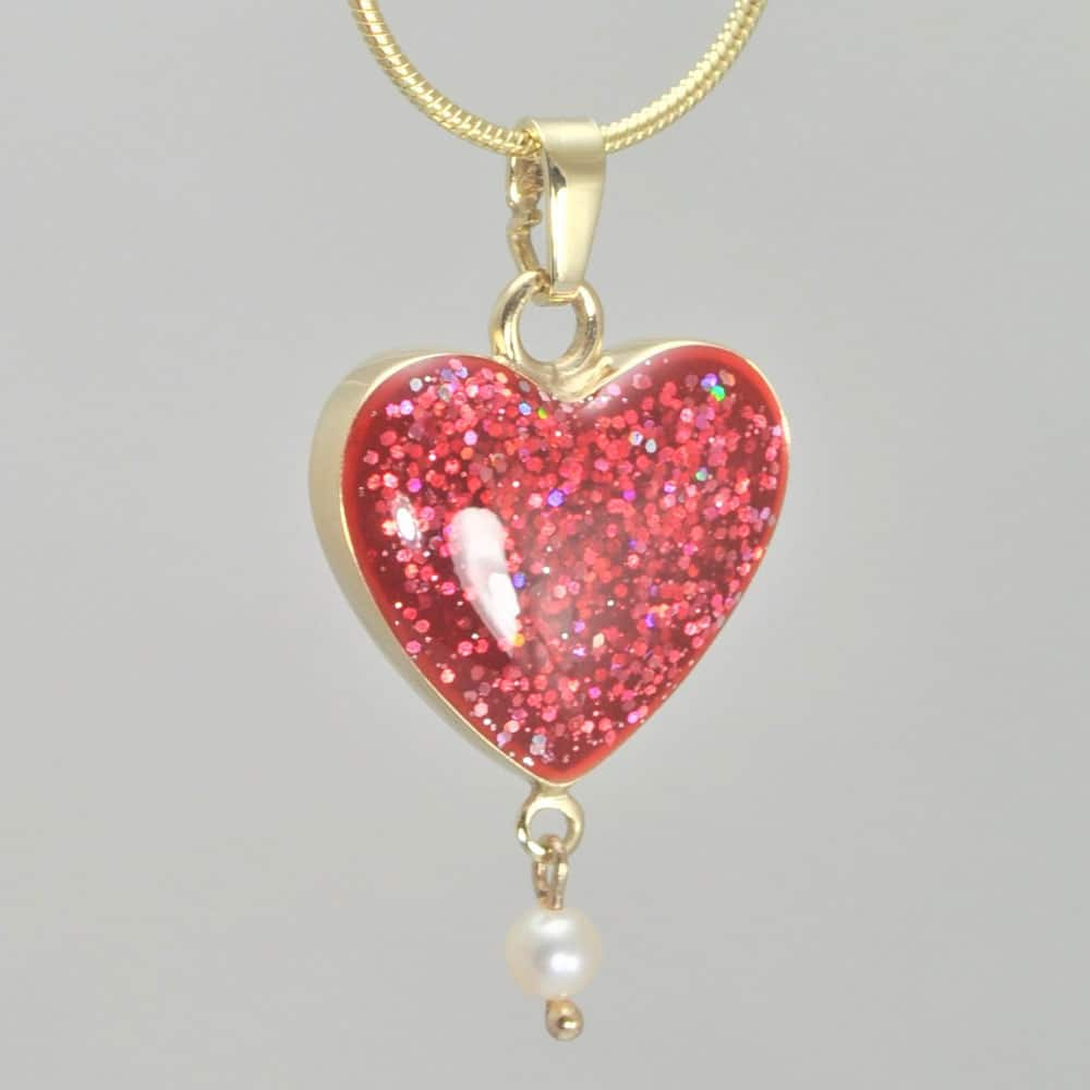 Crystallure Heart - Gold with Red