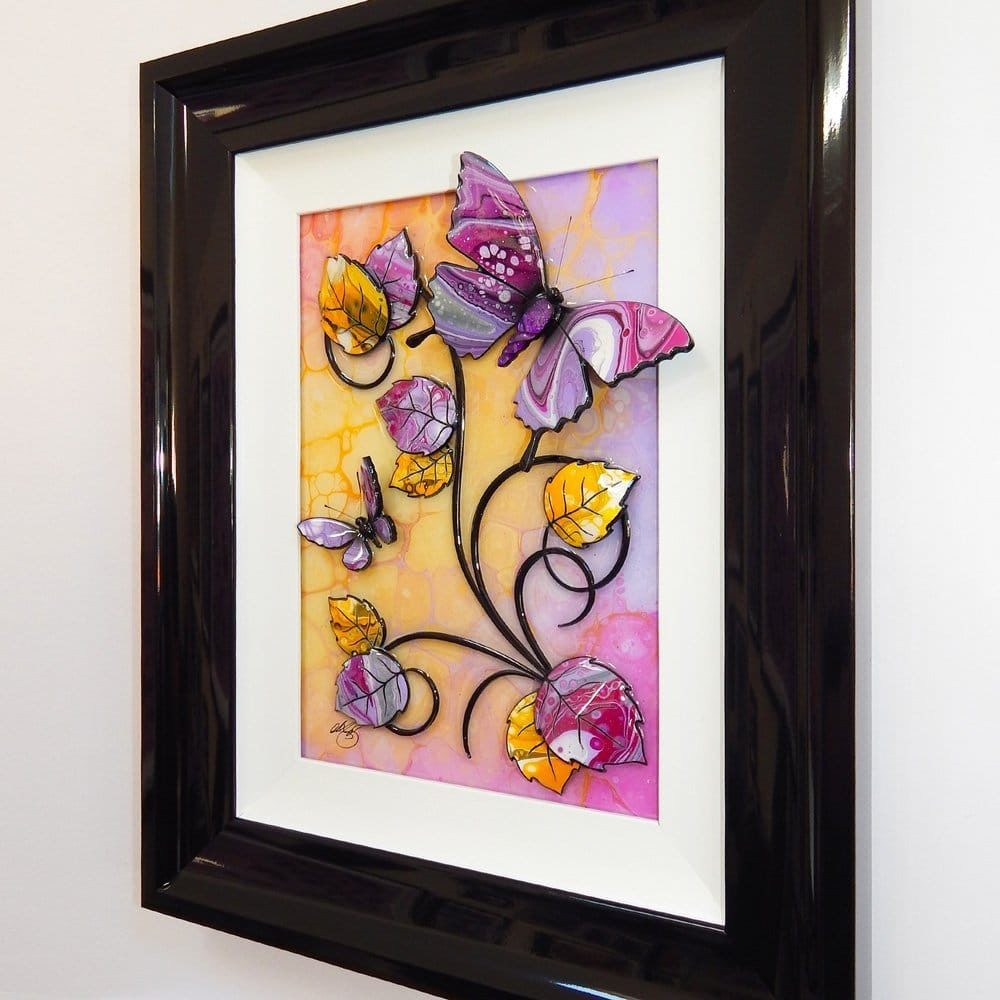 Butterfly - Yellow, Lilac, and Pink