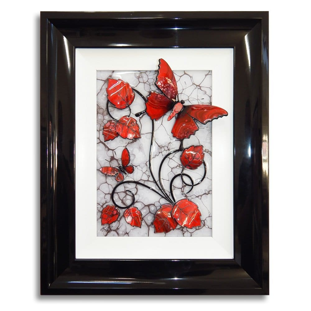 Butterfly - Red, Black, and White