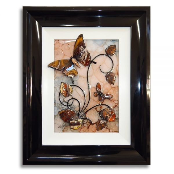 Butterfly - Brown, Grey, and Black