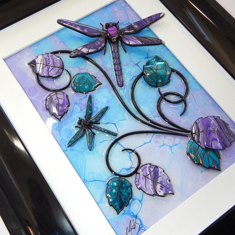 Dragonfly - Turquoise, Purple, and Silver