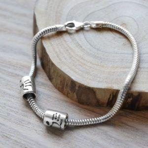 Pandora style handprint beads