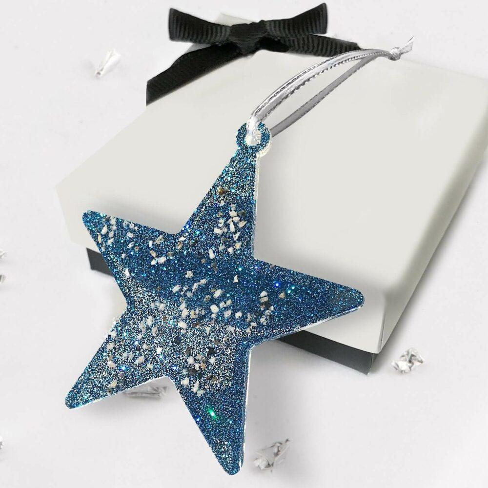 Christmas Tree Star - Cobolt Blue