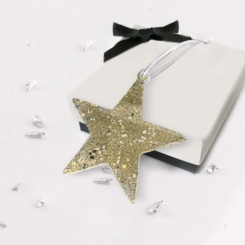 Christmas Tree Star -Gold