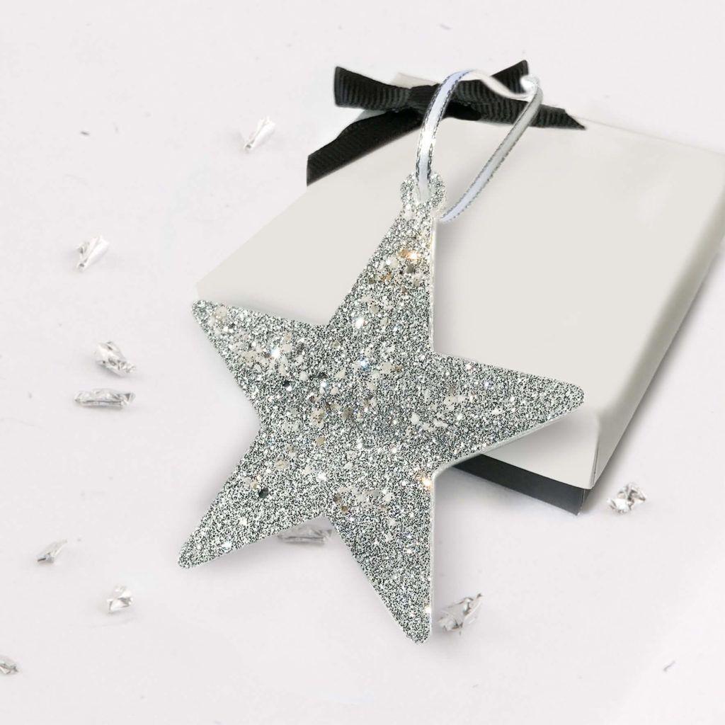 Christmas Tree Star - Silver