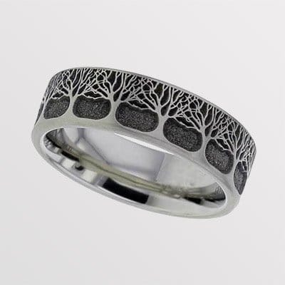 Titanium Memorial Ring For Him