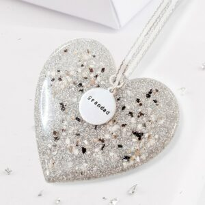 Christmas Tree Heart Decoration Infused With Ashes