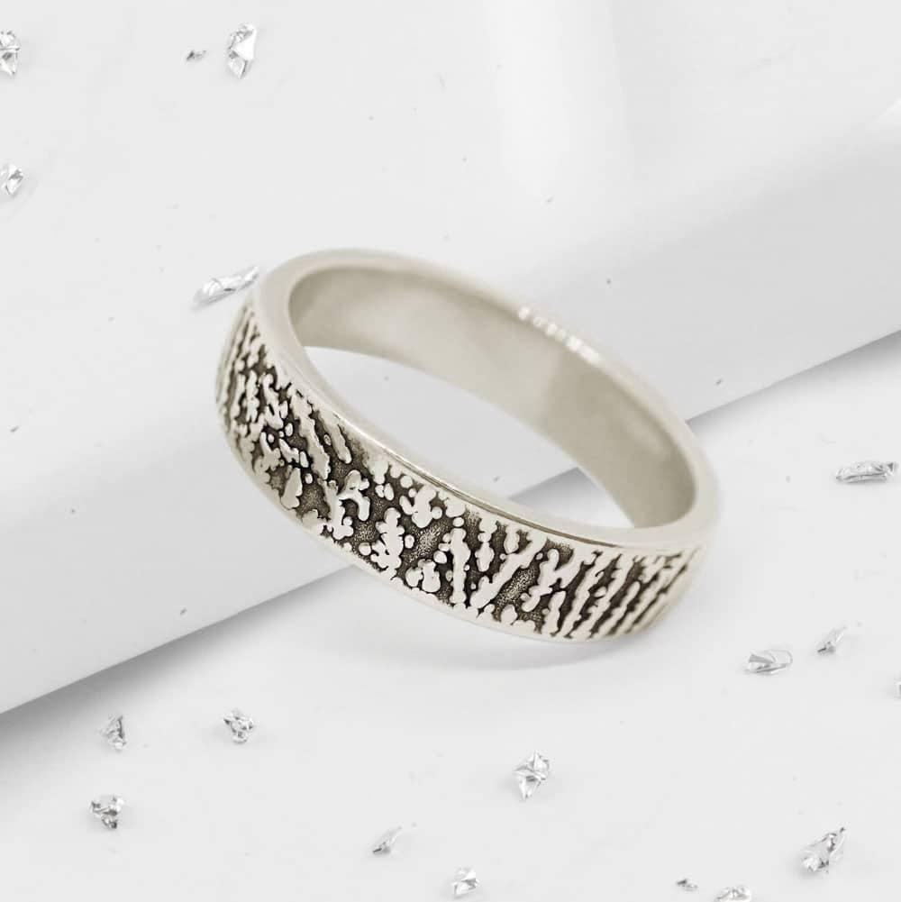 Fingerprint Band Ring