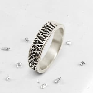 Fingerprint Band Ring