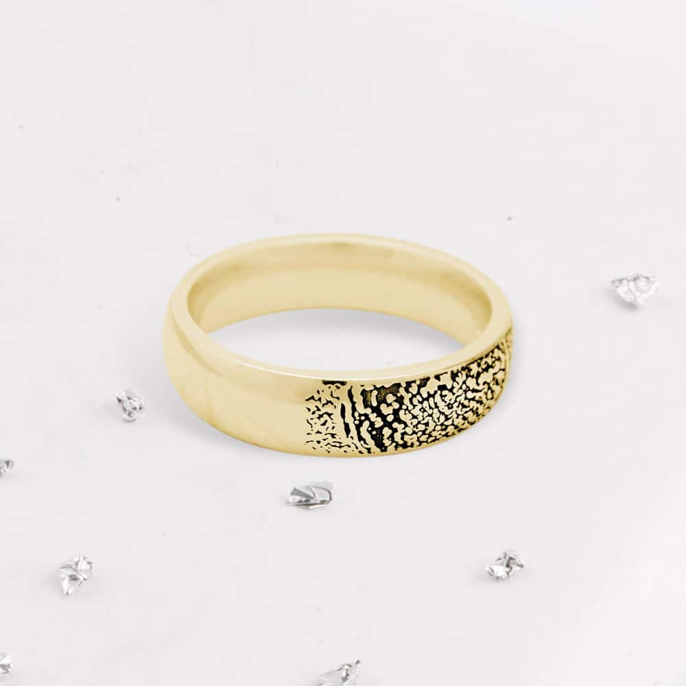 Fingerprint Court Ring