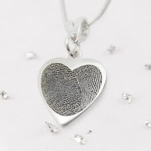 Fingerprint Heart Pendant