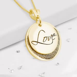 Fingerprint Love Pendant - Gold