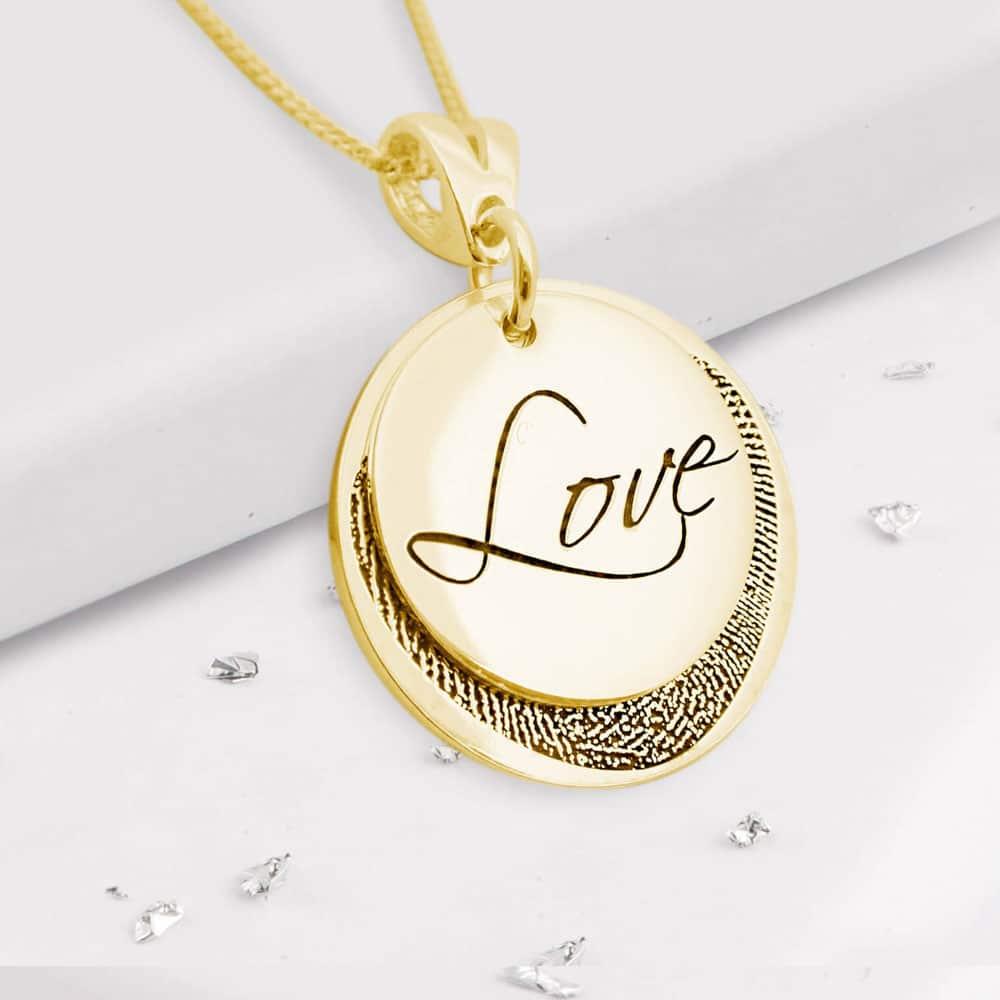 Fingerprint Love Pendant - Gold