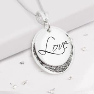 Fingerprint Love Pendant
