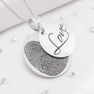 Fingerprint Love Pendant