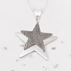 Fingerprint Layered Star Pendant