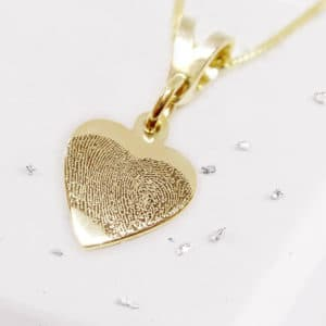 Fingerprint Small Heart Pendant