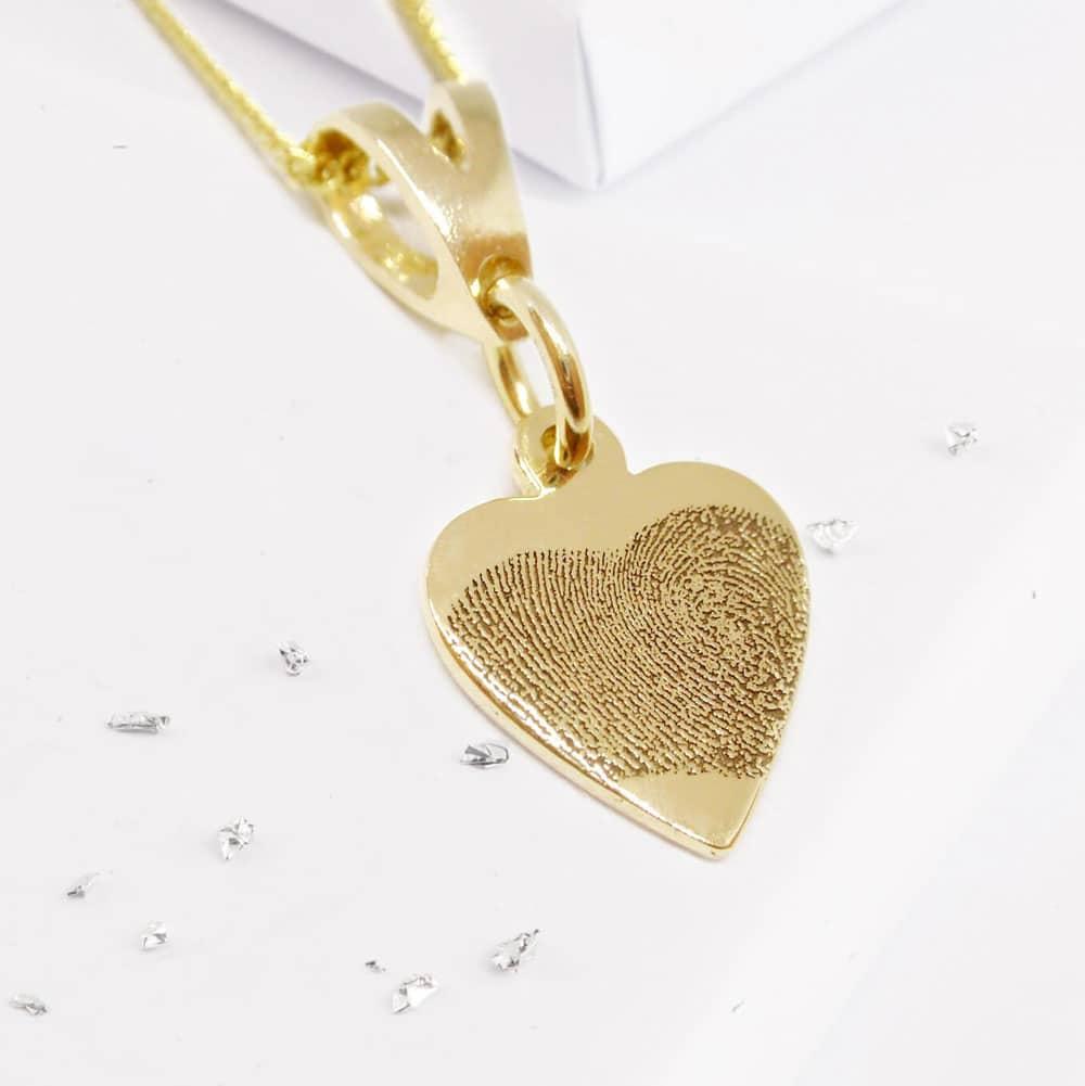 Fingerprint Small Heart Pendant