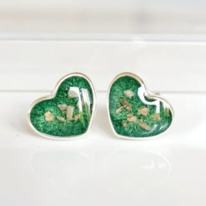 Heart Memorial Cremation Ashes Earrings