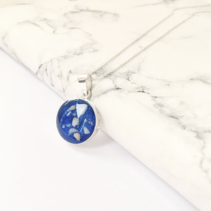 Round Memorial Locket for Ashes or Hair
