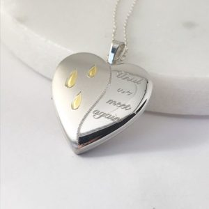 'Until We Meet Again' Memorial Ashes & Photo Locket