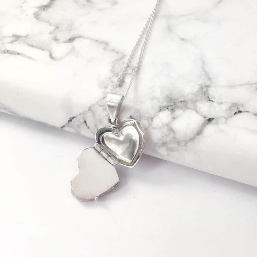 Heart Memorial Locket for Ashes or Hair