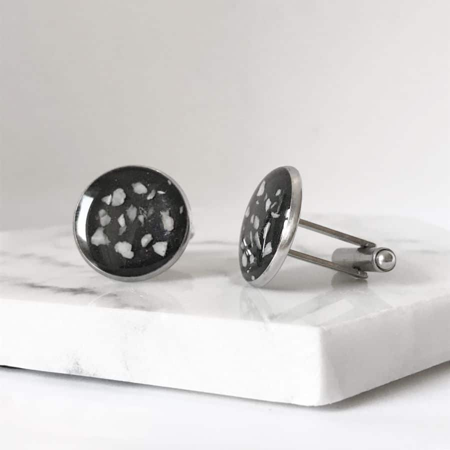 Gents Cremation Ashes Cufflinks, Stainless Steel