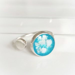 Circle Adjustable Memorial Ashes Ring