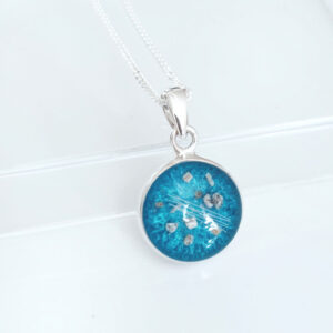 Round Cremation Ashes Memorial Necklace