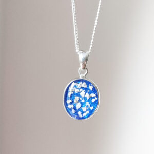 Classic Oval Cremation Ashes Memorial Necklace