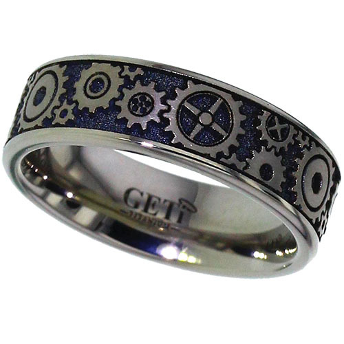 Titanium Ring with Mechanical Gears Design