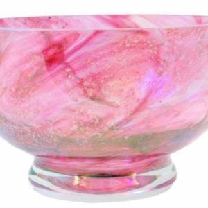 Ashes in Crystal Glass Memorial Bowl, Colour Swirl