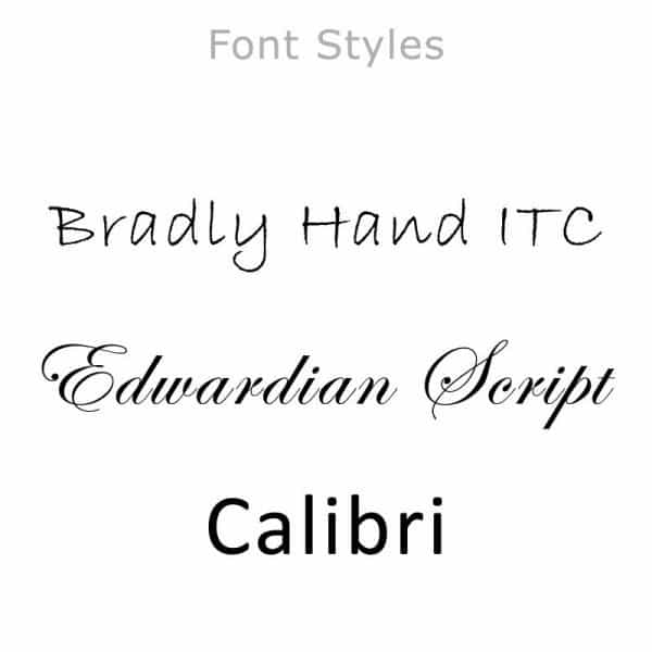 Available Font Styles