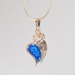 Crystallure Angel Wing Pendant, 45cm snake chain