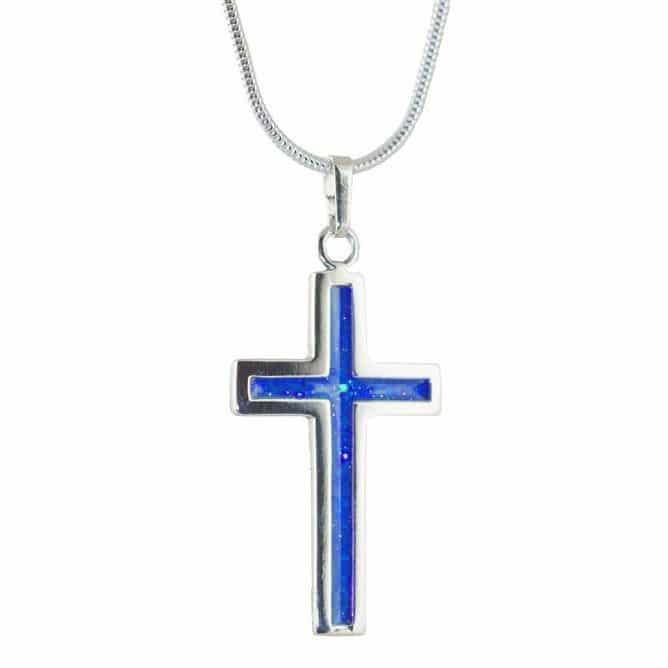 Eternity Crystallure Cross, 45cm snake chain