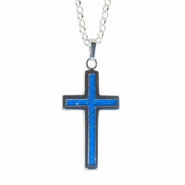 Eternity Crystallure Cross, 50cm Belcher chain