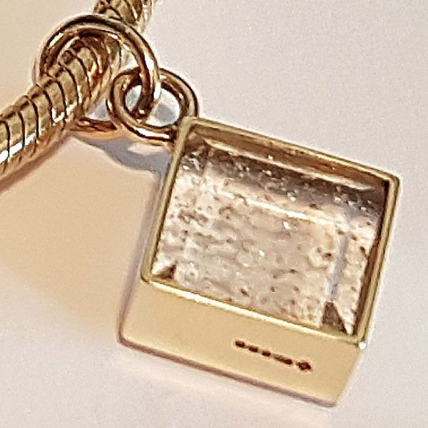 Ashes in Crystal Glass Gold Pandora Charm