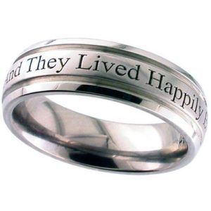 Dome Titanium Ring with Outside Engraving of Your Choice