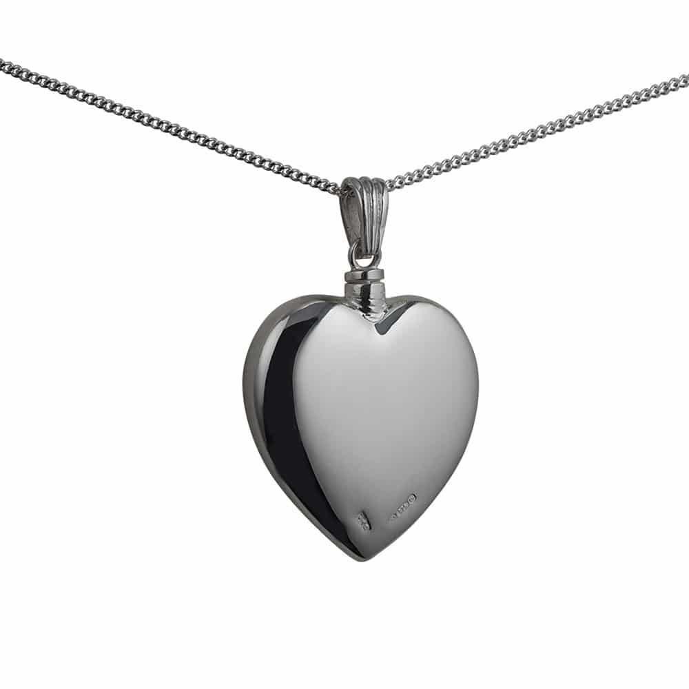 Silver Handmade Plain Heart Memorial Locket. 30x28mm
