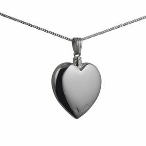 Silver Handmade Plain Heart Memorial Locket. 30x28mm