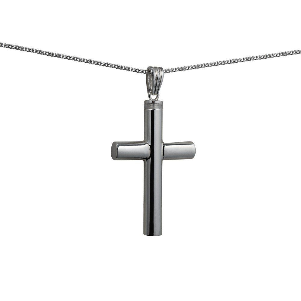 Silver Handmade Plain Memorial Cross. 40x25x6mm