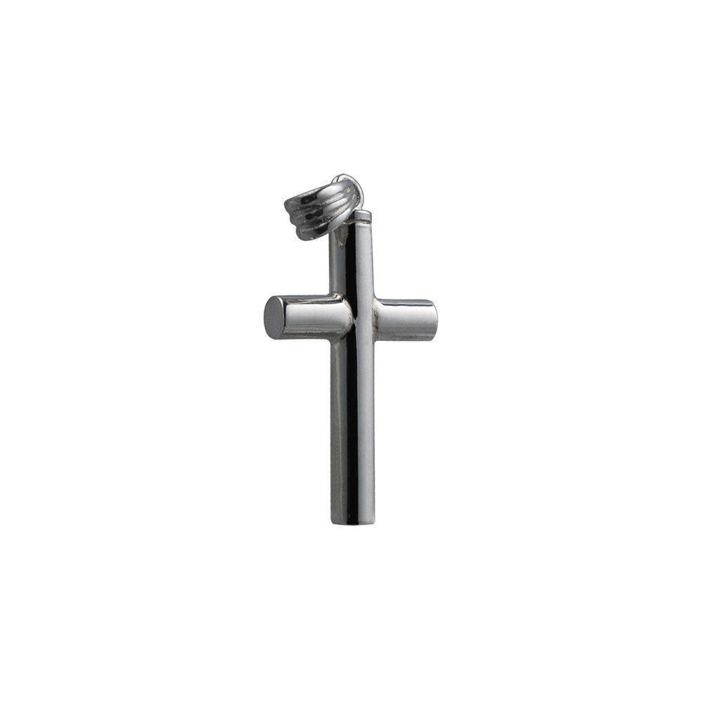 Silver Handmade Plain Memorial Cross. 32x18x4mm