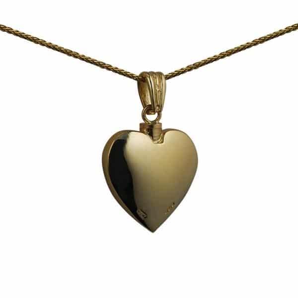 9ct Gold Handmade Embossed Heart Memorial Locket. 25x22mm