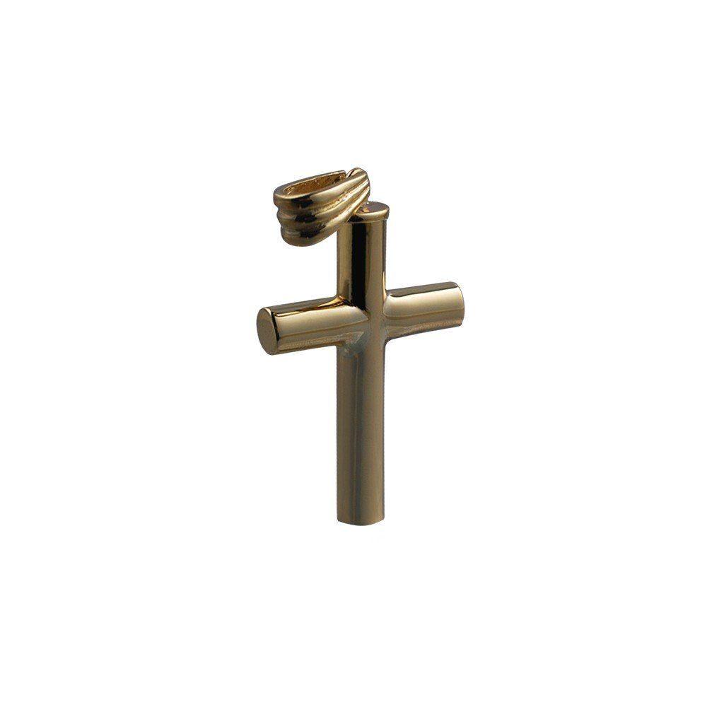 9ct Gold Handmade Plain Memorial Cross. 32x18x4mm