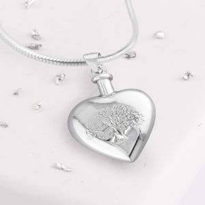 Tree Of Life, Heart Urn Pendant
