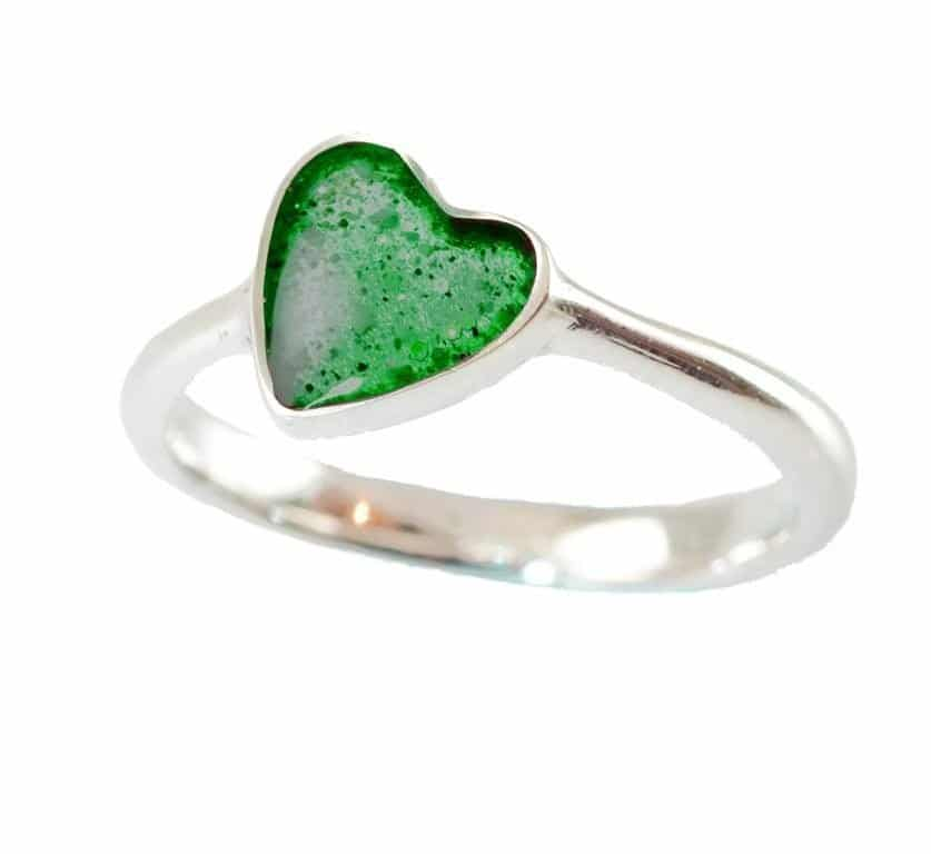 Eternity Crystallure Heart Memorial Ring, Aqua